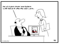 Business Cartoons - I care...