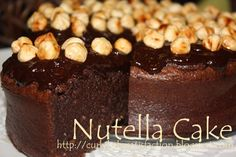 Curlybabe's Satisfaction: Nutella Cake
