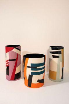 Ceramic Clay, Ceramic Painting, Ceramic Vase, Ceramic Pottery, Slab Pottery, Thrown Pottery, Pottery Vase, Painting Art, Painted Plant Pots