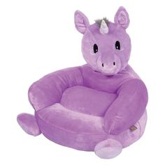 Cute and comfortable, this Trend Lab plush animal chair is a must-have for your child's room or playroom. Unicorn Bedroom, Purple Unicorn, White Unicorn, Unicorn Party, Unicorn Kids, Toy Unicorn, Unicorn Crafts, Unicorn Head, Plush Animals