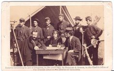 images of alonzo h cushing | the far Right is Gettysburg artillery Commander Alonzo Cushing and