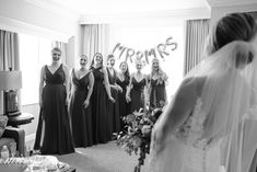 bride's first look with her bridesmaids. Lifestyle Photography, Wedding Photography, Riverside Hotel, Designer Bridesmaid Dresses, Cruise Wedding, Church Ceremony, Performing Arts, Fort Lauderdale, Naples