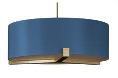 Mayfair Pendant (Satin Brass) - Copper & Silk