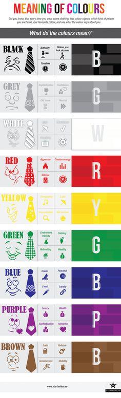 El significado de los colores #infografia #infographic#design