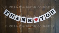 THANK YOU BUNTING Wedding Engagement Garland Banner Decoration Photo Prop Party Sign by TheBlankCollective on Etsy