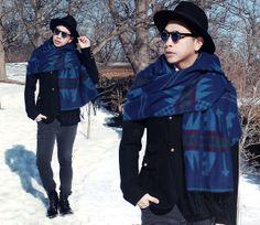 menswear, mensstyle, mensfashion, blanket scarf, winter look, OOTD #mensfashion #mensstyle #trend #styleblogger #fashionblogger #winter