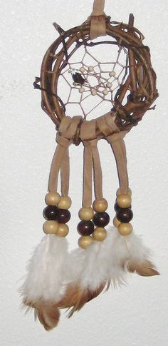 Eagle's Nest Dream Catcher  3 inch by moonshadowgift on Etsy, $10.30