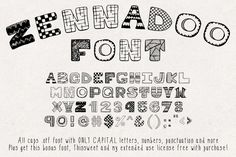 Zennadoo Font by Heather Green Designs on @mywpthemes_xyz