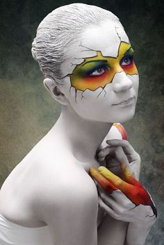 Cool Halloween make-up tips for a great . - female halloween make up ideas party make up - Art Visage, Party Make-up, Real Techniques Brushes, Maquillaje Halloween, Make Up Art, Special Effects Makeup, Crazy Makeup, Makeup Transformation, Fantasy Makeup