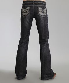 Take a look at the Black Metallic 816 Bootcut Jeans - Women & Plus on #zulily today!