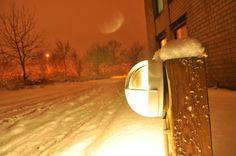 On a snowy night in Kiel