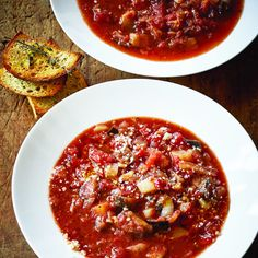 "Tomato & Eggplant Soup – Barefoot Contessa…and save the leftovers to use as a sauce for the next day's pasta casserole! See Ina's Baked Pasta with Tomatoes and Eggplant (found here in ""Pasta is Basta""! Best Soup Recipes, Tomato Soup Recipes, Healthy Recipes, Top Recipes, Spinach Recipes, Orange Recipes, Whole30 Recipes, Eggplant Soup Recipe, Eggplant Recipes"