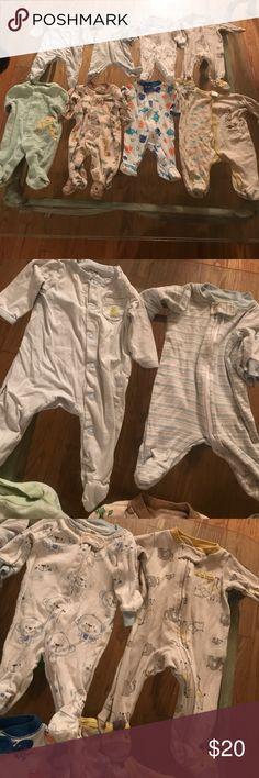 Newborn pj's 8 pjs all good condition Pajamas Nightgowns
