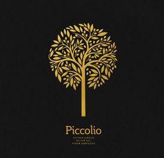 Vad bunkoff Design - Piccolio Olive oil - World Brand Design Society Label Design, Branding Design, Graphic Design, Package Design, Olive Oil Packaging, Tree Graphic, Olive Oil Bottles, Tree Logos, Packaging Design Inspiration