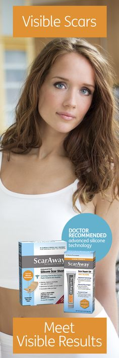 Dare to go bare this summer. ScarAway with doctor-recommended advanced silicone technology works on newly healed wounds and on visible older scars for a more confident you.