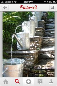 From gutter to flowers... use rain water