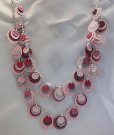 Paper Necklace in Pink and Pink and Silver