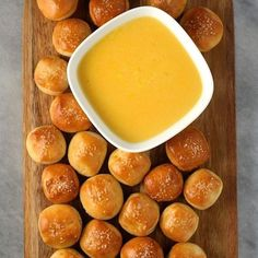 Salty Pretzel Bites with Cheddar-Beer Dip Recipe on Food52 recipe on Food52
