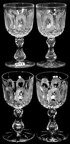 """Hawkes, Buckle, American brilliant cut glass, 5.5"""", 13-1."""