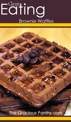 Brownies for breakfast! I swear! #cleaneating #cleaneatingrecipes #eatclean #breakfast #breakfastrecipe #cleaneatingbreakfast #waffles #wafflerecipes
