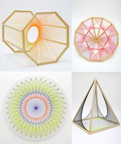 Artist Nike Savvas transforms mathematic formulas into beautiful sculptures. Sacred Geometry <3