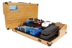 Boicebox Tiered : durable pedalboards made with bamboo Guitar Pedal Board, Guitar Rig, Guitar Shop, Guitar Effects Pedals, Guitar Pedals, Diy Pedalboard, Instruments, Guitar Accessories, Wood Boxes