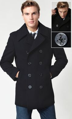 Brooks Brothers Peacoat. Can it get any better?