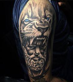 "CDMX México 🇲🇽 on Instagram: ""Hércules 🦁 . Citas…"" Hercules Tattoo, Sleeve Tattoos, Portrait, Instagram, Quotes, Tattoo Sleeves, Headshot Photography, Portrait Paintings, Arm Tattoo"