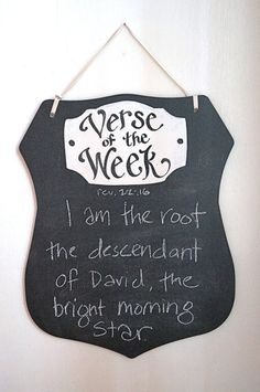 Shield of Faith Verse of the Week Chalkboard by kijsa on Etsy