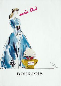 Publicité du parfum Mais oui de Bourjois