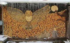Firewood Art...Firewood Fowl!