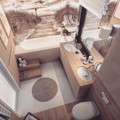 Bath room design small chic toilets ideas for 2019 Beige Bathroom, Modern Bathroom, Small Bathroom, Bathroom Interior Design, Bathroom Styling, Interior Decorating, Bad Styling, Sweet Home, House Design