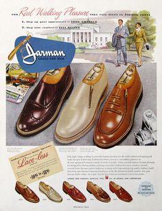1951 Jarman Shoes For Men Ad - Jarman Lace-less Series - Men s Zipper  Loafers - Retro Footwear Ad 93e73b3bd