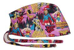 a49166f9bd6 Scrub Hat Women Superheros Comic Fabric Nurse Cap Doctor ER Do-Rag Skull  ad