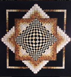 Convex Illusions Quilt Pattern KWA-1001 (advanced beginner, lap and throw, wall hanging)