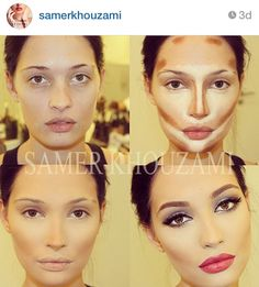 Contouring & Highlighting ( interesting, maybe for a photo shoot, but I doubt I could ever make it look like that! Lol
