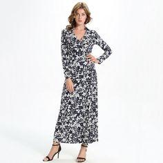 Vestidos Long Sleeve Bohemian Maxi Dress Beach Sundress. Gender: WomenStyle: BohemianBrand Name: FLOYLYNNeckline: V-NeckDresses Length: Ankle-LengthSeason: SummerWaistline: EmpireMaterial: Polyester,SpandexSleeve Style: RegularSilhouette: Fit and FlareSleeve Length: FullModel Number: ATF76240Decoration: NonePattern Type: Print