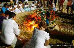 Offering to Iemanjá on the beach, New Years, Rio de Janeiro, Brazil News