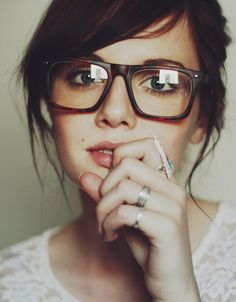 I like her glasses