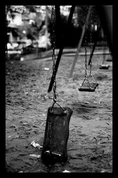 old wooden swings Black And White Stairs, Black N White Images, Wooden Swings, Black And White Aesthetic, Dark Art, Aesthetic Pictures, Black And White Photography, Aesthetic Wallpapers, Abandoned