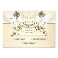 Discount Dealsbeach wedding palms starfish sun rays wedding RSVP Personalized InvitationYes I can say you are on right site we just collected best shopping store that have