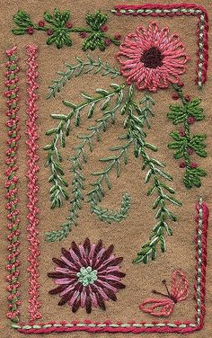 Love the chain stitch flowers!