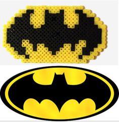 Create the batman logo in hama beads