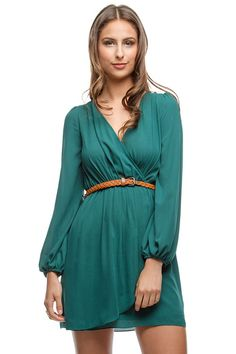 Madeline Dress in Teal Green