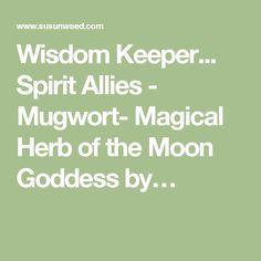 Wisdom Keeper... Spirit Allies - Mugwort- Magical Herb of the Moon Goddess by…