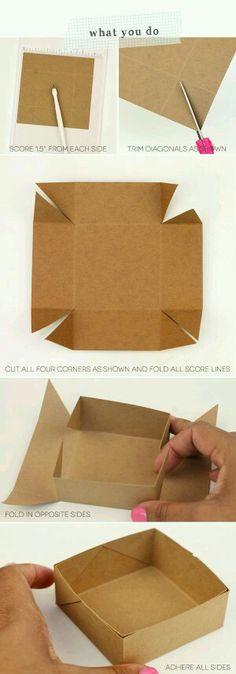 Kutu nasıl yapılır? Bu resimde aşamalı olarak gösteriliyor kutuyu yaptıktan sonra tükenmez veya Keçeli kalem ile süslenebilir. ...