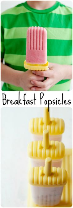Breakfast Popsicles from LauraFuentes.com