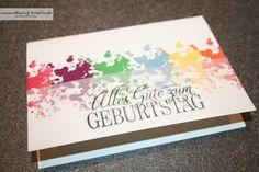 Blumis kreativ Blog: Farbkleks-Karte