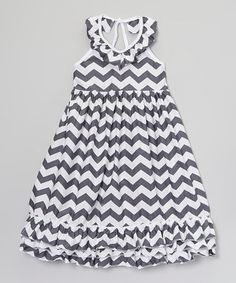 This Gray Zigzag Dress - Toddler & Girls by Just Couture is perfect! #zulilyfinds