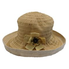 Upturned Brim Hat with Decorative Stitching